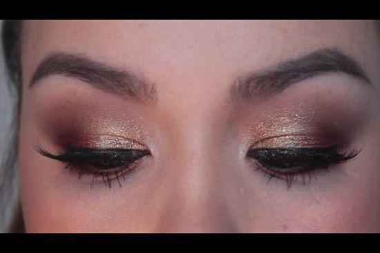 Cute thanksgiving eye makeup