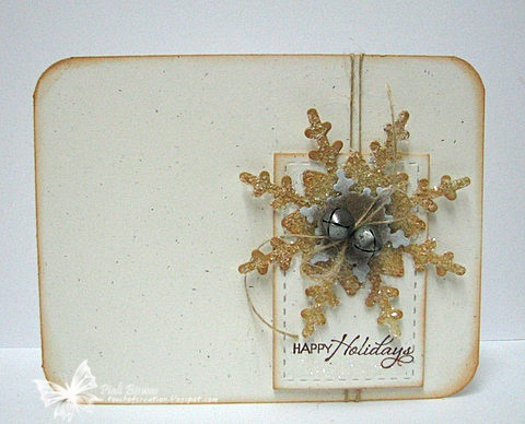 Christmas card with golden die cut snowflake ... clean design ... lovely!!