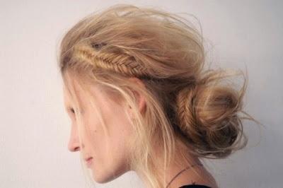 fishtale side braid+bun