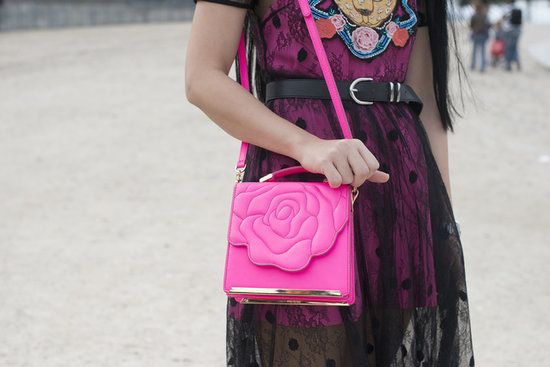 Because what girl doesn't love flowers?  #pfw #streetstyle #ss14