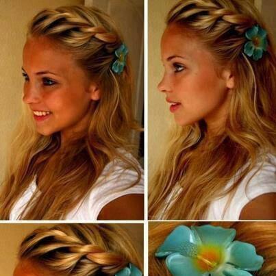 Braid with flower