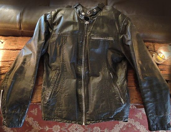 70s Vintage Canadian Sears Cool black Leather cafe racer sz 40 long only at IronCrowVintage