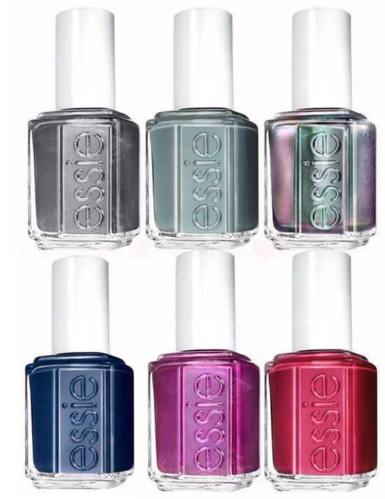 Essie Fall 2013 Nail Polish Collections...really like the top right one with the two toned color