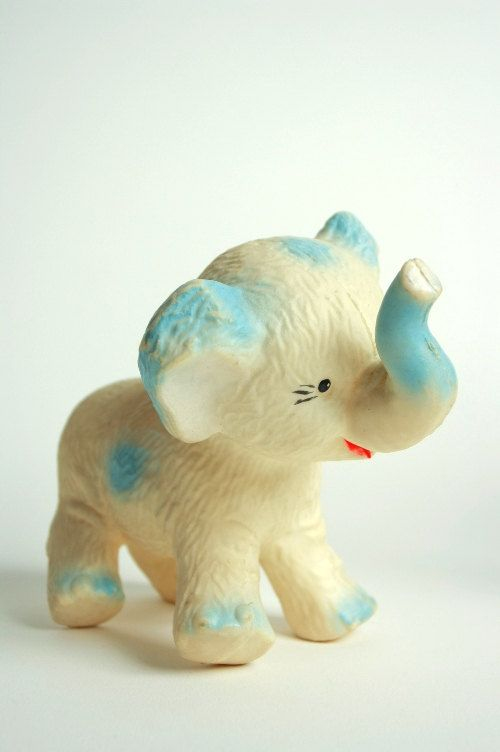 Vintage elephant toy  Rubber elephant