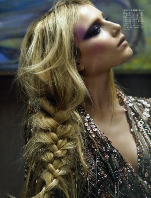Chunky pulled plait braid