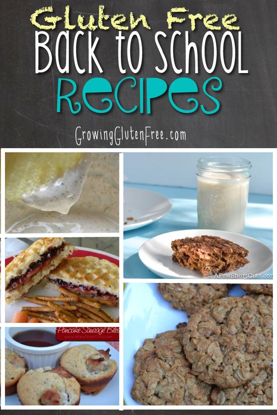 Gluten Free Back to School Recipes