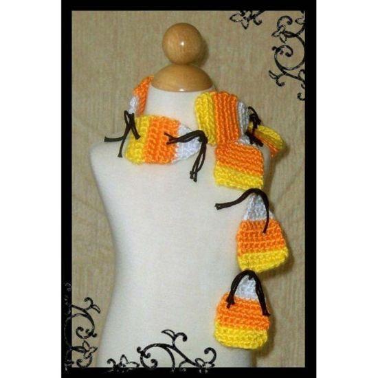 candy corn scarf pattern