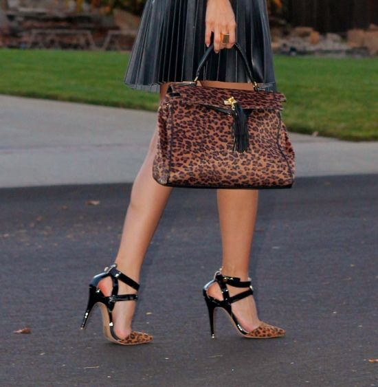 Leopard on leopard! #fashion #shoes #accessories #bag