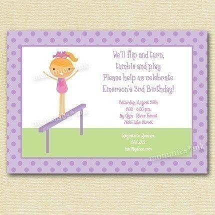 Gymnastics Party invite? 6th birthday