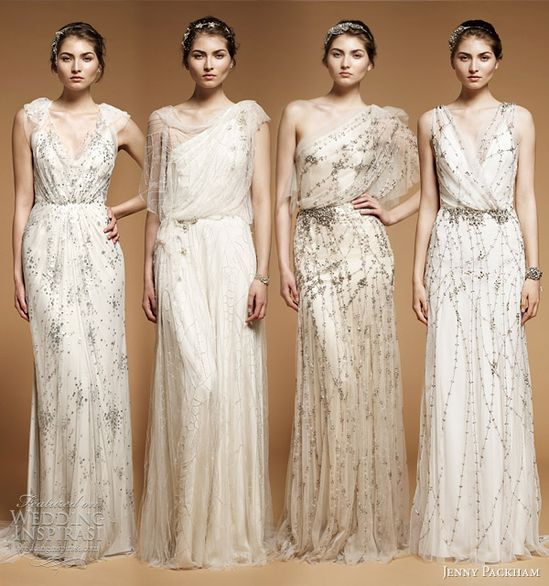 Jenny Packham 2012, beautiful ethereal gowns.