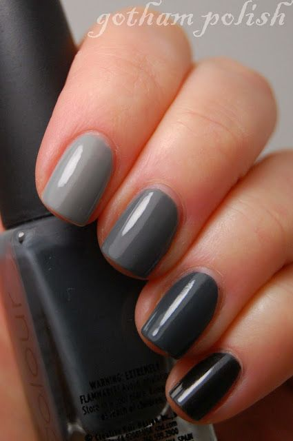 A Gray-dient Mani for the Grey Days of Winter