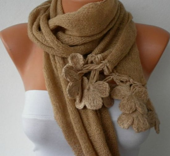 Women Knitted Fabric  Scarf    Headband  Cowl with by fatwoman, $22.50