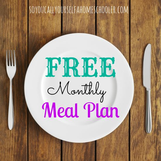 July {2013} FREE Monthly Meal Plan :: Includes breakfast, lunch, dinner, morning and afternoon snacks, as well as tips for meal prep for the week! :: SoYouCallYourself...