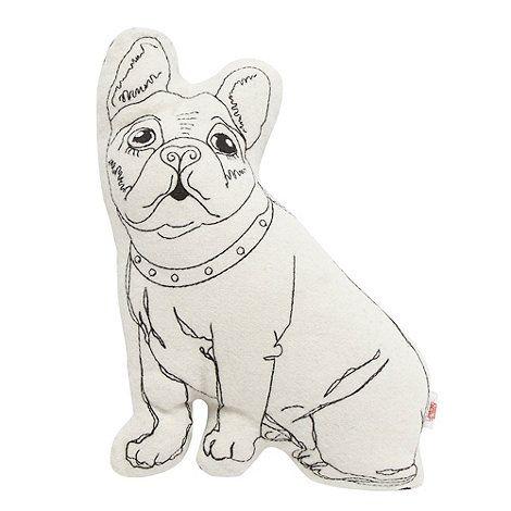 Ben de Lisi Home Designer black French bulldog cushion- at Debenhams.com