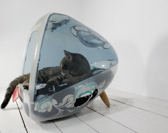 Upcycled iMac pet bed