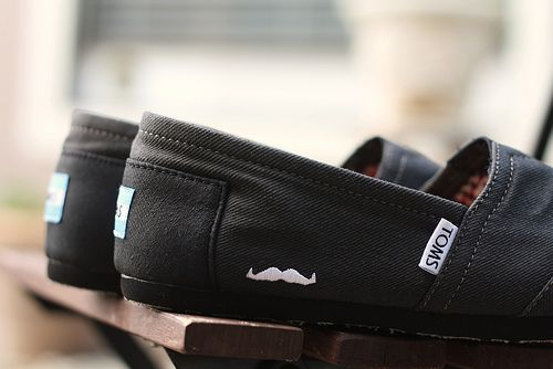 mustached TOMS