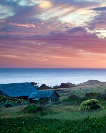 An amazing sunset over the quiet rugged coastline of Sea Ranch Lodge in California......beautiful and serene.....