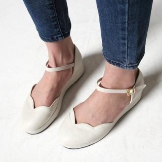 SARAH ankle strap flats $105