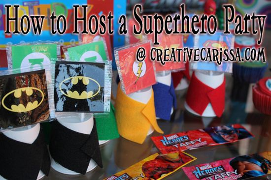 Creative Green Living: Superhero Birthday Party!
