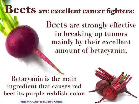 ANTI-CANCER FOODS - Beets are an excellent liver cleansing food.