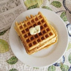 Zucchini Bread Waffles
