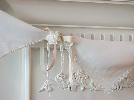 bunting or banner... made with vintage hankies napkins