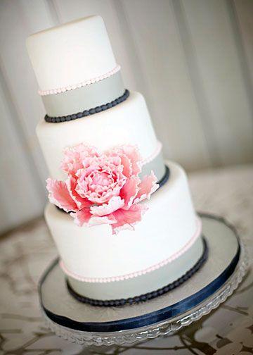wedding cake with rose detail