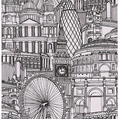Graham & Brown White Londinium Wallpaper- at Debenhams.com