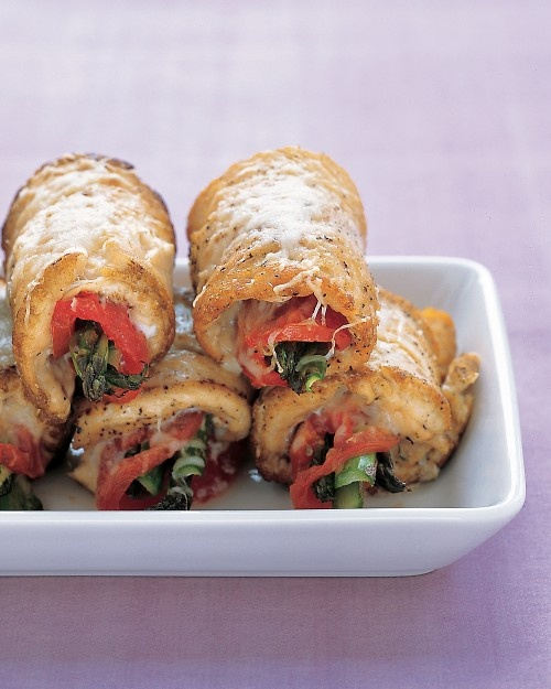 Chicken and Asparagus Rolls.