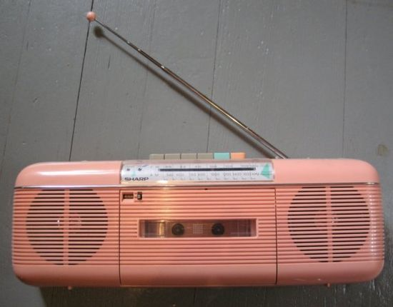 Pink 80's boom box