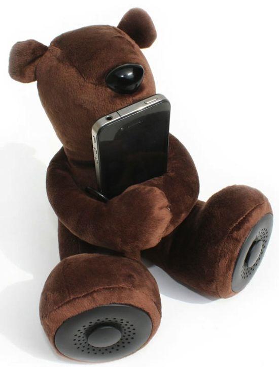 DJ Teddy Bear Plush Speakers