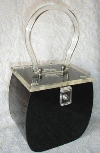 1950's lucite handbag