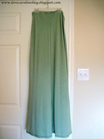 DIY: Dress to Maxi Skirt via Love Caroline Blog