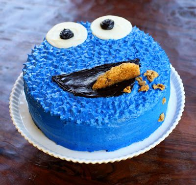 a Cookie Monster birthday cake! This is such an EASY and cute idea!