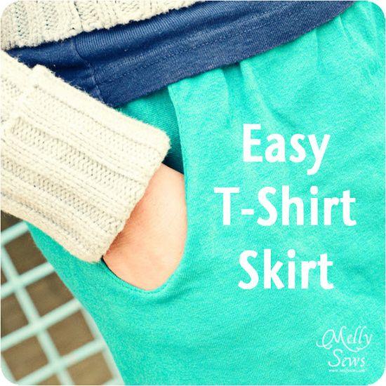 T-shirt skirt tutorial w/ pockets