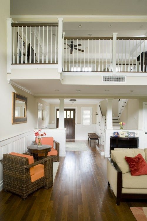 like the open second floor interior balcony