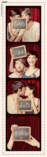 never get tired of the photo booth save the date. Not to mention this couple is adorable! - For 25% OFF your next purchase at www.naturalhealth... use coupon code gobig13s.