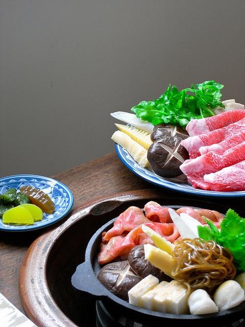 Sukiyaki food sample (fake foods) made by wax