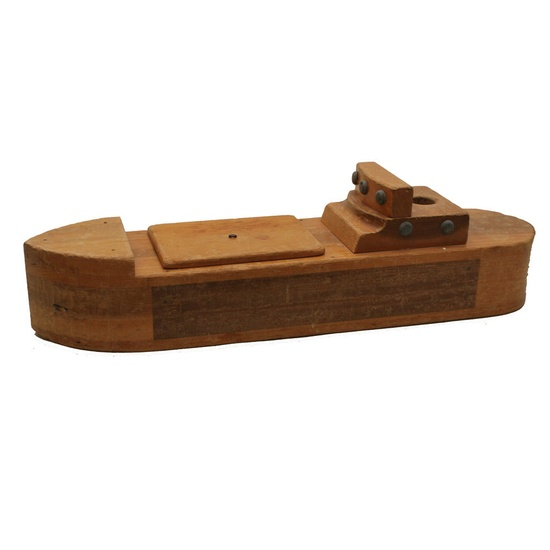 Creative Playthings Tanker / Wooden Boat / Mid-Century Toy Cargo Ship.