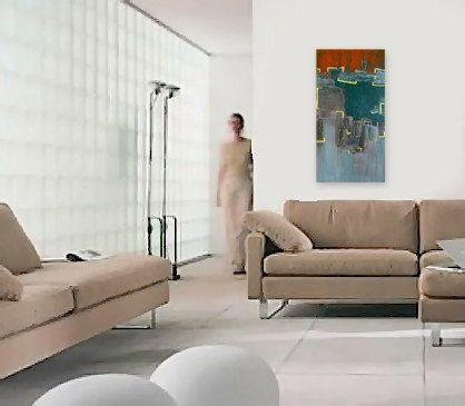 SHiFTiNG original abstract modern painting  by linneaheideart, $150.00
