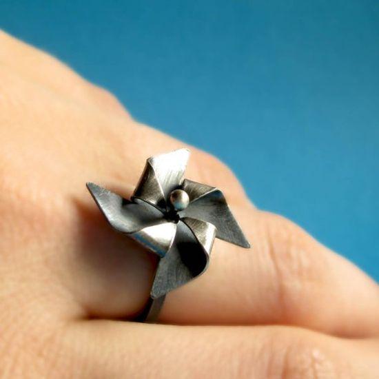Pinwheel ring.  Sidney needs this