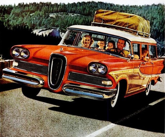 Ahhhh, the many joys of a summertime family road trip. #vintage #car #family #travel #1950s #road_trip