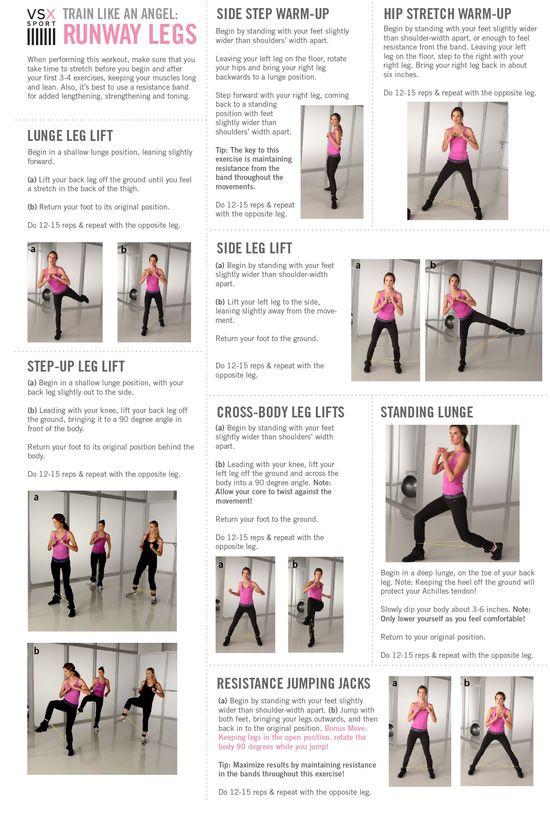 victoria's secret angels workout: Runway Legs