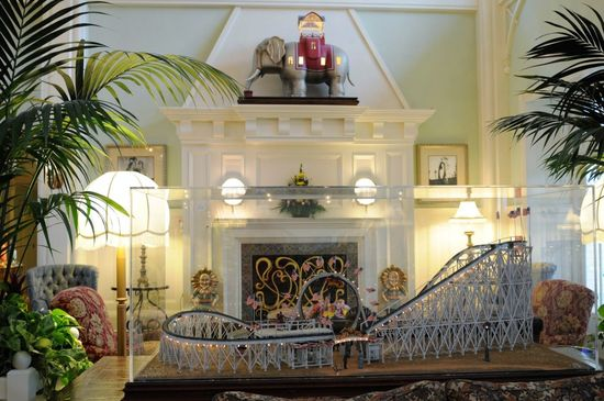Great photos - Disney's Boardwalk Resort and Villas lobby -  filled with Atlantic shore amusement park art from the turn of the century (19th, that is). See it here, along with Disney's description of each piece.