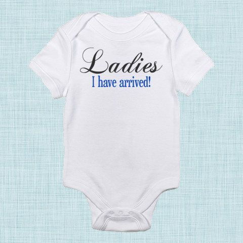 Ladies I Have Arrived Baby Boy Clothes New Baby Take by BabeeBees, $15.00