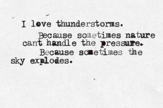 The sky explodes