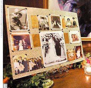 Parents/Grandparents Wedding Pictures- display at wedding