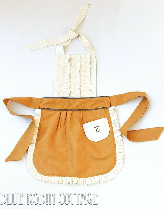 Blue Robin Cottage: Anthro Kids Tea and Crumpets Apron Knock Off #tutorial #sewing