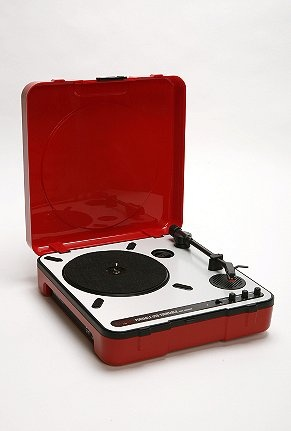 USB portable turntable from urbanoutfitters.com