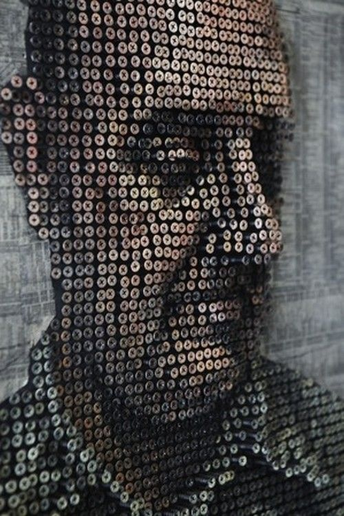 3D art made from screws..    - Repinned by TommyAndersson.com at Pinterest #TommyAndersson